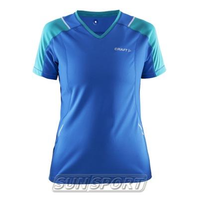 Футболка Craft W Devotion Run женская синий (фото)