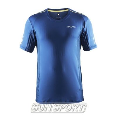 Футболка Craft M Focus Run Mesh мужская синий (фото)