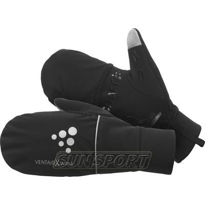 Перчатки Craft Hybrid Weather черный (фото)