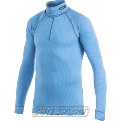 Термобелье Рубашка Craft M Pro Zero на молнии мужская яр.голубой