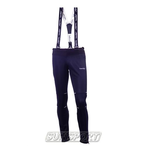Разминочные штаны на лямках W Nordski Premium черн (фото)