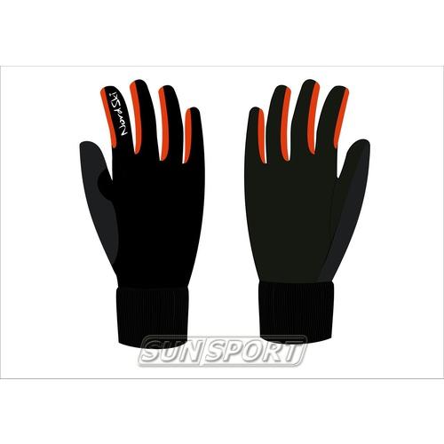 Перчатки NordSki JR Warm WS детские черн/красный