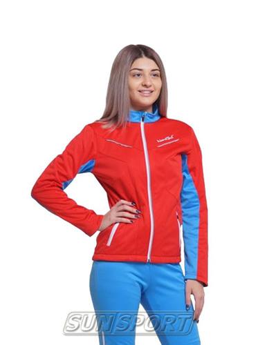 Разминочная куртка NordSki W SoftShell женская National Red (фото)
