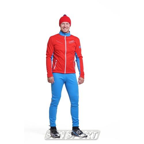 Разминочный костюм NordSki M SoftShell мужской National Red (фото)