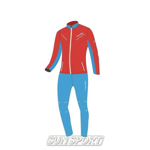 Разминочный костюм W Nordski SoftShell National Red (фото)