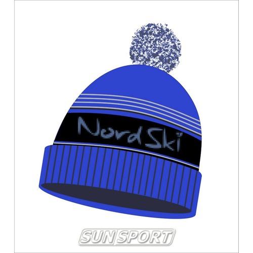 Шапка Nordski Stripe черн/син (фото)