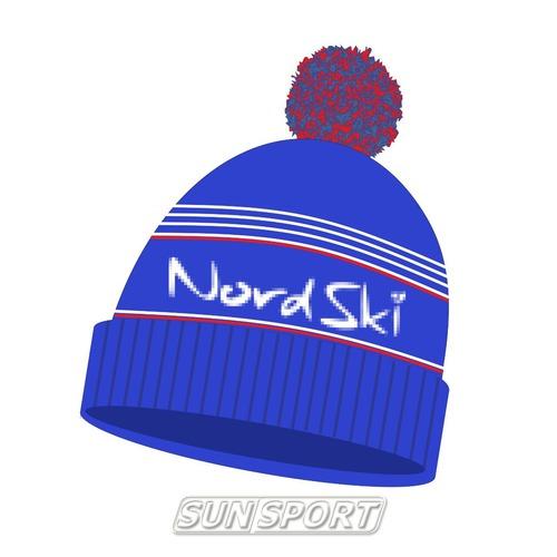 Шапка NordSki Stripe синий