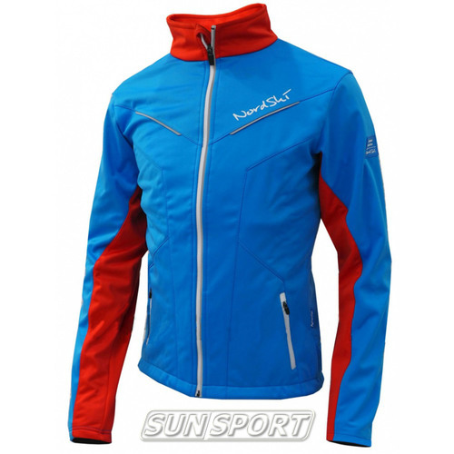 Разминочная куртка NordSki JR SoftShell детская National Blue (фото)