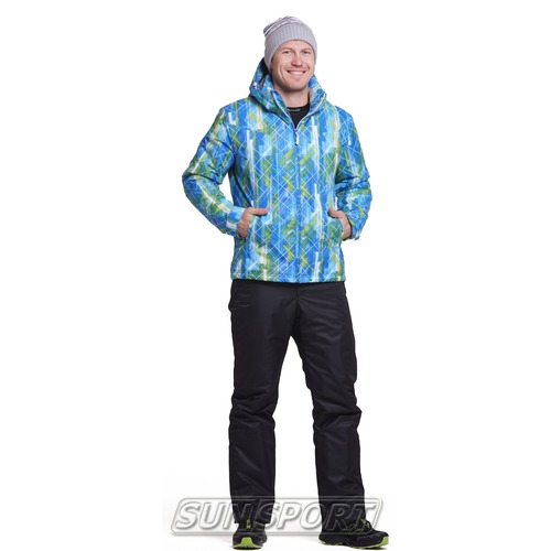 Утепленный костюм JR Nordski City Blue/Lime/Black (фото)