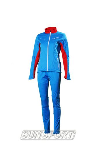 Разминочный костюм NordSki W SoftShell женский National Blue (фото)