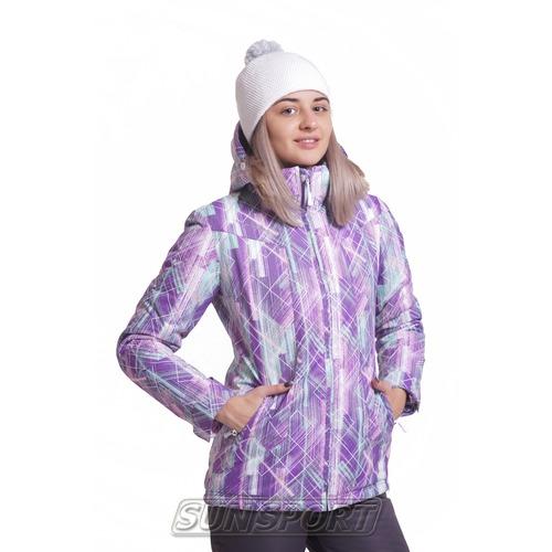 Утепленная куртка W Nordski City Violet/Mint/Grey (фото)