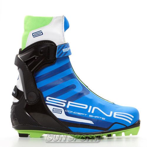 Ботинки лыжные Spine Concept Skate Pro NNN (синт) (фото)