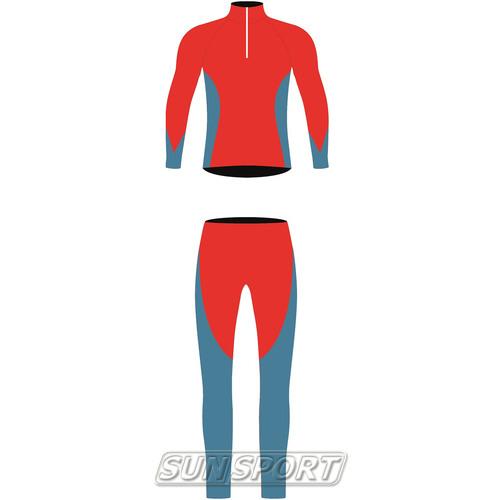 Комбинезон лыжный NordSki Active красн/синий (фото)
