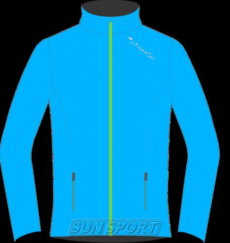 Разминочная куртка NordSki M Elite мужская синяя (фото)