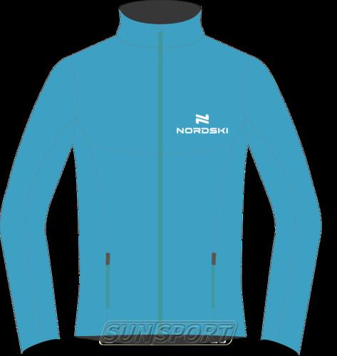 Разминочная куртка W Nordski SoftShell Motion голуб (фото)