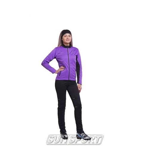 Разминочный костюм NordSki JR Premium SoftShell детский фиол/черный (фото)