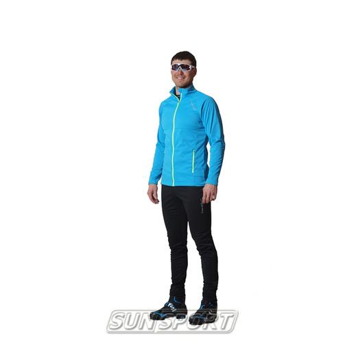 Разминочный костюм NordSki M Elite мужской син/черный (фото)