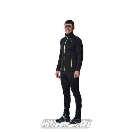 Разминочный костюм NordSki M Elite мужской черный (фото)