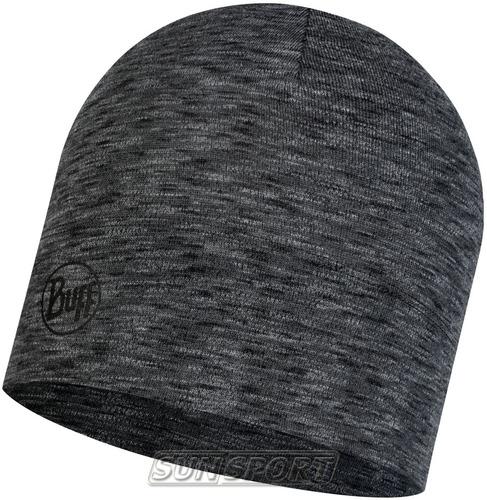 Шапка Buff Midweight Merino Wool Hat Shale Grey Multi Stripes (фото)