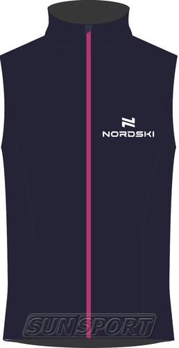 Жилет NordSki JR SoftShell Motion детский син/розовый (фото)