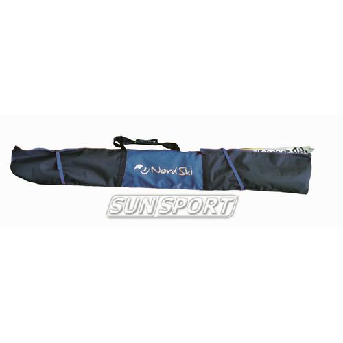 Чехол для лыж Nordski на 3 пары черн/синий (фото)