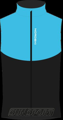Жилет NordSki M Premium SoftShell мужской голуб/черный (фото)