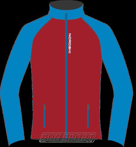 Разминочная куртка W Nordski Premium SoftShell красн/син (фото)