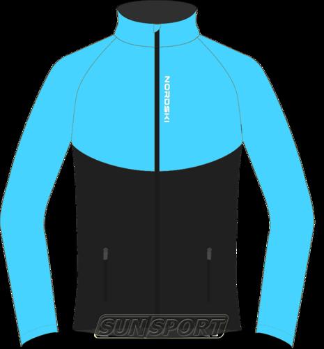 Разминочная куртка NordSki W Premium SoftShell женская голуб/черный (фото)