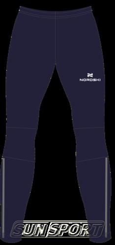 Разминочные штаны NordSki W Motion женские т.синий (фото)