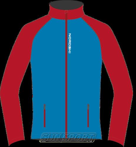 Разминочная куртка NordSki JR Premium SoftShell детская син/красный (фото)