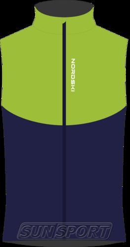Жилет NordSki M Premium SoftShell мужской зелен/т.синий (фото)