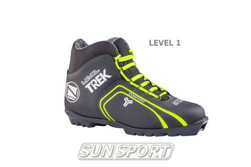 Ботинки лыжные Trek Level1 NNN черный (фото)