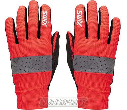 Перчатки лыжероллерные Swix Radiant красный/неон (фото)