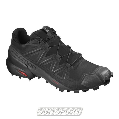 Кроссовки трейловые Salomon M SpeedCross 5 мужские черный (фото)