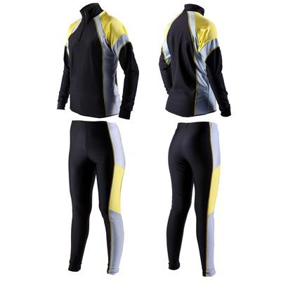 Комбинезон лыжный Sport365 цвет черно-желт-сер