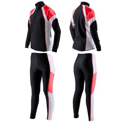 Комбинезон лыжный Sport365 цвет черно-красн-бел