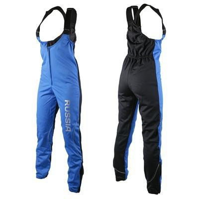 Разминочные штаны на лямках SunSport WS синий