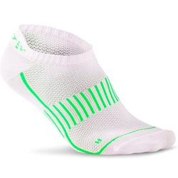 Носки беговые Craft Cool Training бел/черн/зеленый