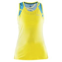 Майка Craft W Focus Run Cool Sublimated женская желт/бирюза