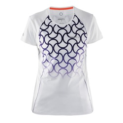 Футболка Craft Focus Run Cool Sublimated жен бел/фиолет