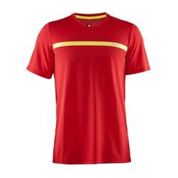 Футболка Craft Joy Run мужская красн/желт