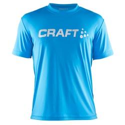Футболка Craft Run Logo муж голубой