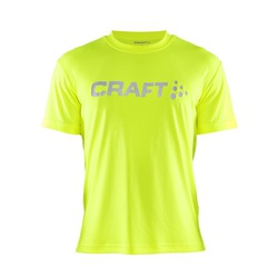 Футболка Craft Run Logo муж желт/неон