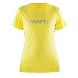 Футболка Craft W Prime Run Logo женская желтый