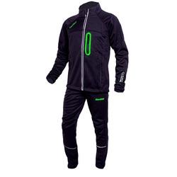 Разминочный костюм JR Nordski SoftShell черн-зел