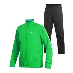 Костюм ветрозащитный Craft Active Run Wind мужской ярко-зеленый