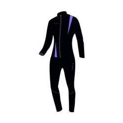 Разминочный костюм JR Nordski SoftShell черн/фиолет