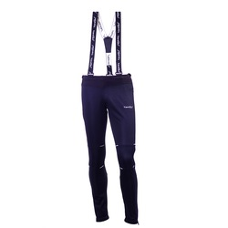 Разминочные штаны на лямках Jr Nordski Premium черн