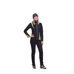 Разминочный костюм NordSki W SoftShell женский черн/лайм