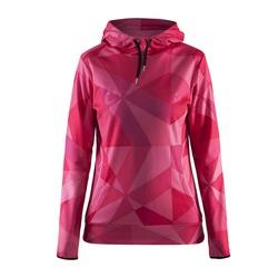 Толстовка Craft W Logo Hood женская розовый